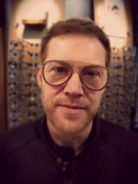 Cloughs supply stylish eyewear for local actor Kris Hitchen